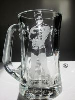Batman Glass Etching by theartful-dodge