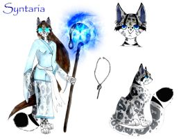 Syntaria Ref sheet for comic by sapphire-blackrose