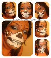 Skull face makeup by MzChrisCreatez