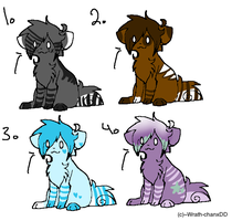 adoptables!! by VoodooKisses