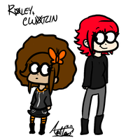 Roely and Cwotlin by InvaderSonicMx