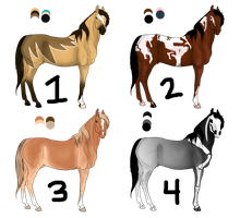 Free Adoptables - Horses 14 by carlmoon