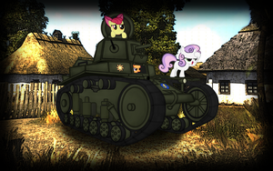 wallpaper: WOT/MLP crossover (screen 9) by crasydwarf