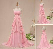 Delicate Light Pink Chiffon Special Occasion D by weodress