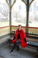 Little red resting hood in central park by GrimildeMalatesta
