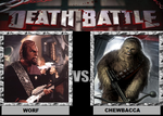 Death Battle Worf vs Chewbacca by Brasc