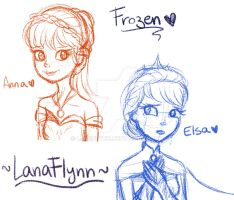 ...Anna and Elsa... by LanaFlynn