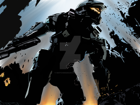 Master Chief Halo 4 by sketcher298
