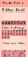 Hetalia folders Pack 1 by Nekomimiarthur