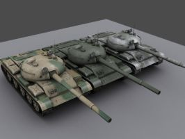 T62 battle tanks by Brother-Bronco