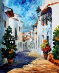Greek mood by Leonid Afremov by Leonidafremov