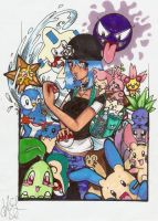 Pokemon by painterchick