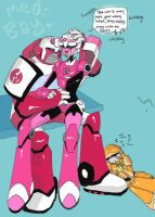 Ratchet and Arcee AGAIN by SHMOMS