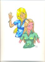 Two Elves- colored by orangelion90