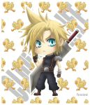 Chibi Cloud Strife_Final Fantasy VII by Paracetamol1000