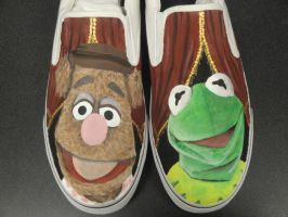 Muppets - Kermit and Fozzie Shoes by tjjwelch