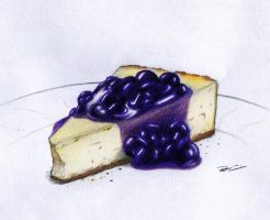 Blueberry Cheesecake by RobtheDoodler