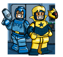 Blue Beetle and Booster Gold by Catanas192