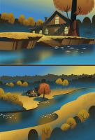Cartoon Backgrounds 01 by poojipoo