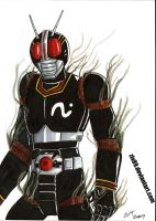 Masked Rider Black Colored by ZIX89