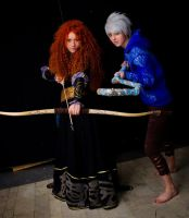 Merida and Jack Frost 2 by Zoisite-Virupaksha