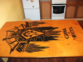Dining table by Caligo-Rat