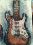 20 min drawing of my guitar hahah by chocolatwolf