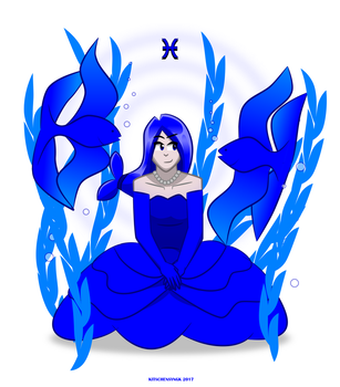 Pisces print by Kitschensyngk