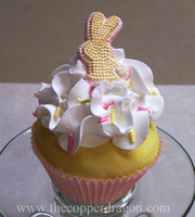 """Easter Bunny"" Fake Cupcake by TheCopperDragon2004"