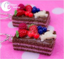 Chocolate Cake Mania Necklace by CuteMoonbunny