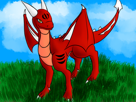 Rose, full digital dragoness OC by SoulDragonWithFlow