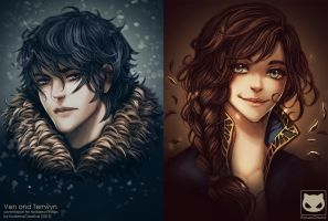 Portrait Commission: Ven and Terrwyn by KodamaCreative