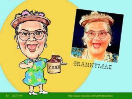 Caricature of GrannyMae by jantheempress