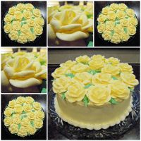 Royal Icing Rose Cake by cake4thought