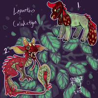 (OPEN 1/2) Lepanthes calodictyon maskbeasts by The-Monster-Shop