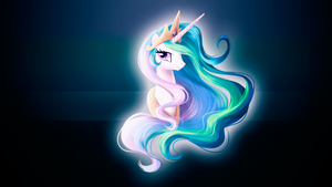 Princess Celestia Portrait Wallpaper by alanfernandoflores01
