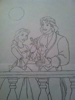 Belle and Adam by Sapphire-Rose15