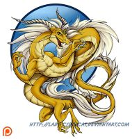 Gold Dragon for Redmight by lady-cybercat