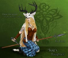 Stag's Daughter by PookaWitch