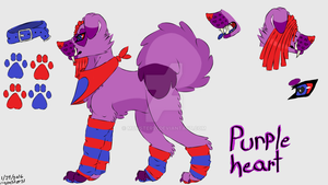 Purple Heart Reference sheet by Monster51