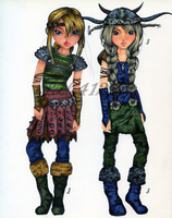 Top Model- Astrid and Ruffnut HTTYD by Paula41297