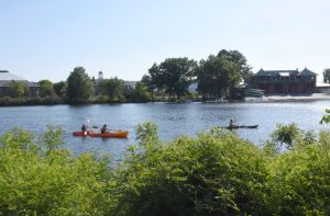 Kayaking and Canoeing On the Charles, Summer Day by Miss-Tbones
