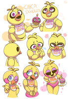 Chica Doodles by HINOKI-pastry