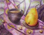 cup of cocoa in lilac tones by LasmejaLora