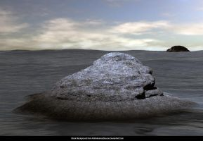 Free Background:  Mermaid Rock by ArtReferenceSource