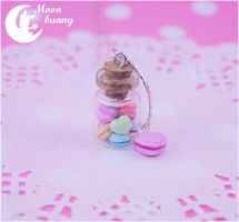 Macaron hearts Necklace By Moon bunny by CuteMoonbunny