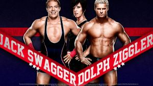 Dolph Ziggler - Jack Swagger w/Vickie Guerrero by findmyart