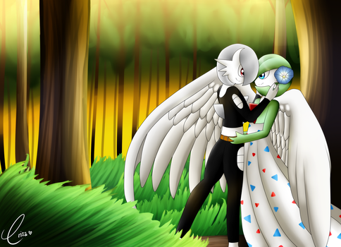 Love in the Woods - Commission for carnax489 by ErisaFate