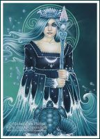 Tarot - Queen of Water by ravynnephelan
