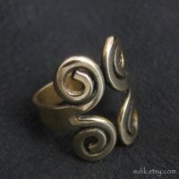 Bronze Viking ring by Sulislaw